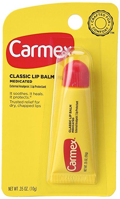 Carmex Classisc Lip Balm Medicated ลิปบาล์ม คลาสิค (ชนิดหลอด)  ทาเพื่อบำรุงริมฝีปากช่วยบรรเทา และปกป้องริมฝีปากจากการแตกแห้งเป็นขุย ใช้ในช่วงอากาศเย็นเพื่อนรักษาปากแห้งแตก จะดีมาก  หรือ ใช้สำหรับ รองพื้นก่อนทาลิปสติกเหมาะมาก