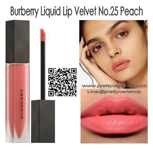 *พร้อมส่ง*Burberry Liquid Lip Velvet No.25 Peach ลิปสติกเนื้อครีมกึ่งแมทท์ สามารถสร้างริมฝีปากให้ดูโดดเด่นด้วยสีที่เด่นชัด แต่ให้ความรู้สึกเบาสบายและอ่อนนุ่มบนริมฝีปากเนื้อดีมาก แมตต์แบบนุ่มปากขั้นสุด ไม่ตกร่อง ปากอิ่ม ติดทน กลบสีปากมิด แถมยังเอ