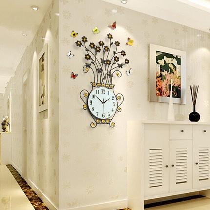 นาฬิกาติดผนังขนาดใหญ่ รูปแจกันดอกไม้สวยหรูไม่เหมือนใคร ติดที่ไหนก็สวยเด่นทันที