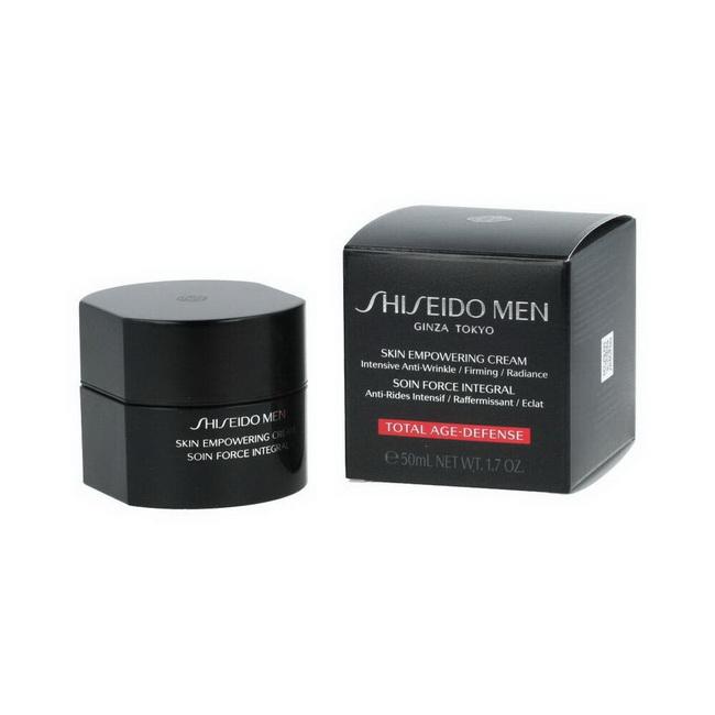 **พร้อมส่ง**Shiseido Men Skin Empowering Cream 50ml. ครีมบำรุงผิวหน้าสำหรับผู้ชาย เพื่อผิวขาวกระจ่างใส พร้อมลดเลือนและปกป้องการเกิดริ้วรอยแห่งวัย ฟื้นฟูผิวจากความเหนื่อยล้า ให้ผิวสดชื่น เติมความชุ่มชื่นให้ผิวอย่างสมดุล ลดความแห้งกร้านและความมันส่วนเกิน สั