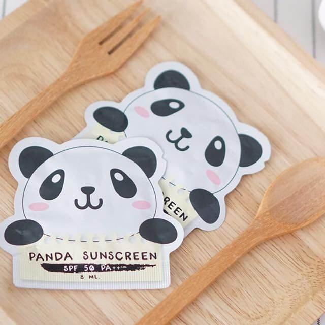Panda Sunscreen SPF 50 PA++ กันแดดแพนด้า (แยกซอง) กันแดดสูตรพิเศษเหมาะสำหรับคนไทย