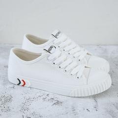 รองเท้าผู้หญิง ราคาถูก รองเท้าผ้าใบ รองเท้าแฟชั่น มี สีขาว สีดำ สีกากี สีฟ้า มี ไซร์ 35-40