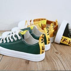 รองเท้าผู้หญิง ราคาถูก รองเท้าผ้าใบ รองเท้าแฟชั่น มี สีขาว สีดำ สีเหลือง สีเขียว มี ไซร์ 35-40