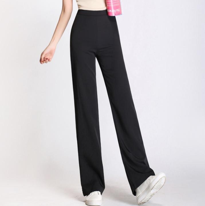 กางเกงเอวสูง ขากว้าง ทรงสวย ไซส์: S/M/L/XL/2XL lสี: ขาว/ดำ