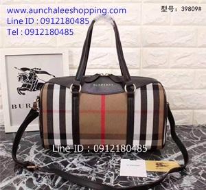 Burberry leather shoulder bag Top Hiend size 33 cm หนังแท้คุณภาพดีน่าใช้ งานสวยเหมือนแท้
