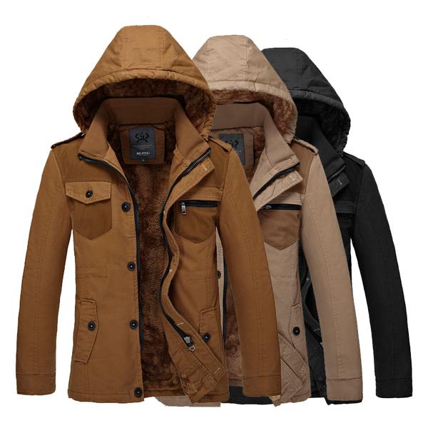 เสื้อโค๊ทผู้ชายกันหนาว เสื้อแขนยาวชาย เสื้อโค๊ทมีฮู้ด