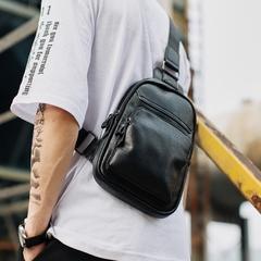 กระเป๋าผู้ชาย ราคาถูก กระเป๋าสะพาย อก เอว ไหล่ เท่ๆ มี สีดำ