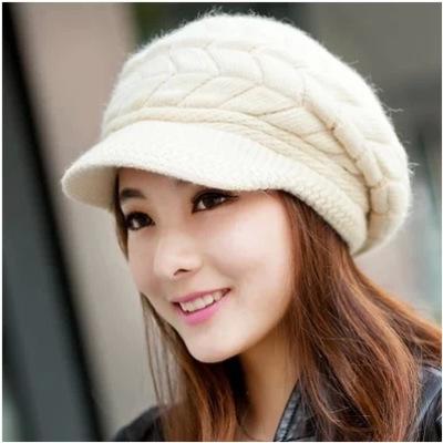 หมวกแฟชั่นผู้หญิง หมวกกันหนาว หมวกไหมพรมกันหนาวผู้หญิง
