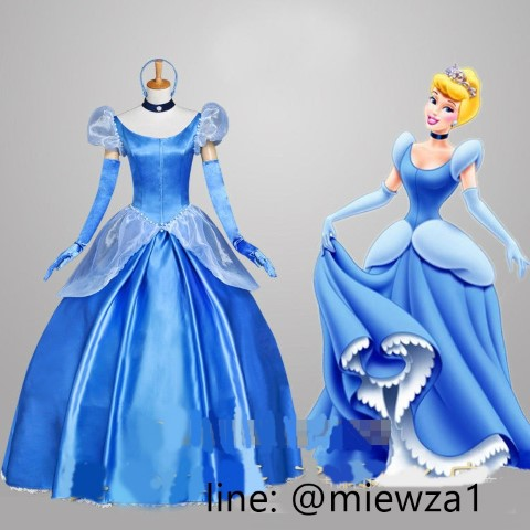 ++พร้อมส่ง++ชุดเจ้าหญิงซินเดอเรลล่าลูกไม้ Cinderella ชุดซินเดอเรลล่า เจ้าหญิงดิสนีย์ Disney