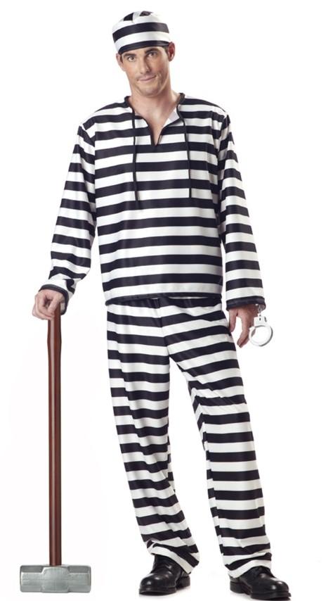 ++พร้อมส่ง++ชุดนักโทษชายหมวก+ชุด+กุญแจมือ ชุดนักโทษในเรือนจำ ชุดคนคุก