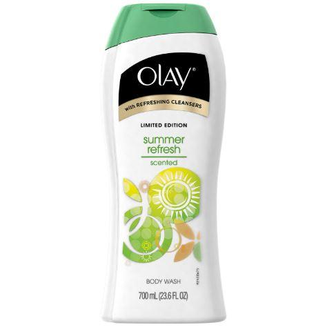Olay Summer Refresh Scented Body Wash 700ml. Limited Edition ครีมอาบน้ำที่มีมอยเจอร์ไรเซอร์เข้มข้น ทำความใสะอาดผิวได้สะอาดหมดจด กลิ่นหอมสดชื่นผ่อนคลาย มีส่วนผสมของมอยเจอไรเซอร์ที่ไม่ทำให้ผิวแห้ง แตกต่างจากสบู่ทำความสะอาดทั่วไป ให้ผิวของคุณสดชื