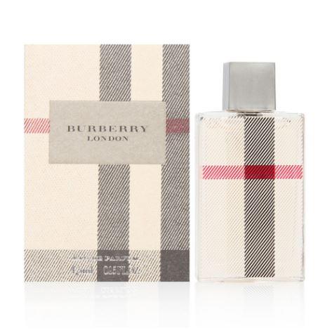 **พร้อมส่ง**Burberry London For Women Eau de Parfum ขนาดทดลอง 4ml. หัวแต้ม น้ำหอมสำหรับผู้หญิงที่อบอุ่น นุ่มนวล มีความเป็นตัวของตัวเองตามสไตล์คนอังกฤษ ด้วยกลิ่นหอมนุ่มละมุนจาก Rose, Honeysuckle, Jasmine, Peony ผสานความสดชื่นจาก Clementine ถ่ายทอดภาพหญิงสา