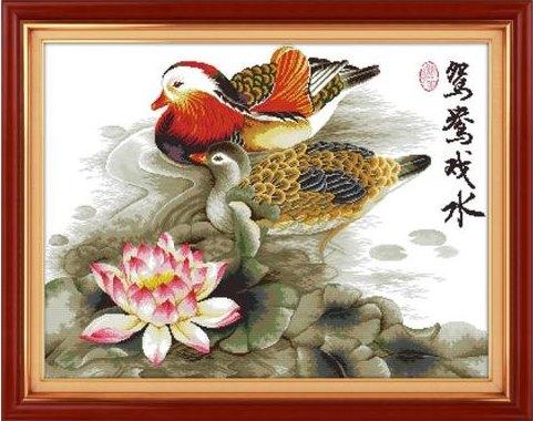 Mandarin ducks (ไม่พิมพ์/พิมพ์ลาย)