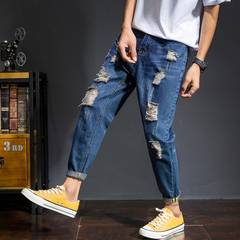 กางเกงผู้ชาย ราคาถูก กางเกงยีนส์ เท่ๆ มี สีน้ำเงิน มี เบอร์ 28-34,36,38,40
