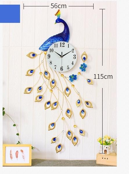 นาฬิกาติดผนังขนาดใหญ่ รูปนกยูงสามมิติ สวย สง่าไม่ซ้ำใคร ติดมุมไหนก้สวยคะ