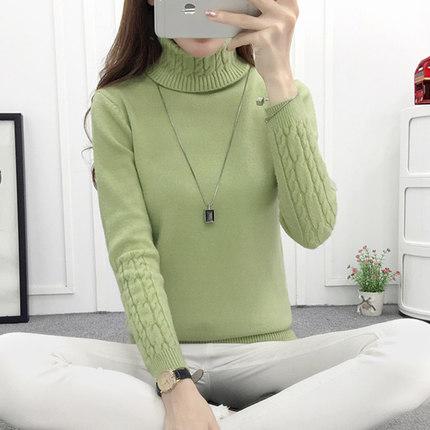 (พร้อมส่งสีเขียว) เสื้อไหมพรมคอเต่า เสื้อคอเต่ากันหนาว เสื้อลองจอนคอเต่า