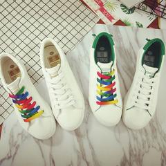 รองเท้าผู้หญิง ราคาถูก รองเท้าผ้าใบ รองเท้าแฟชั่น มี สีขาว สีขาวเขียว มี ไซร์ 35-39