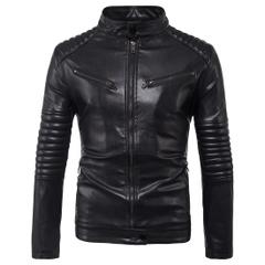 เสื้อผ้าผู้ชาย ผู้หญิง ราคาถูก เสื้อแจ็คเก็ตหนัง มี  สีดำ มีั ไซร์ M L XL 2XL 3XL 4XL 5XL