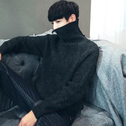 เสื้อกันหนาวไหมพรม เสื้อลองจอนแขนยาว เสื้อคอเต่าผู้ชาย