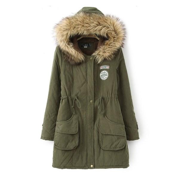 (พร้อมส่งสีเขียว) เสื้อโค๊ทกันหนาว เสื้อแขนยาวกันหนาว เสื้อโค๊ทแฟชั่นแขนยาวมีฮู้ด