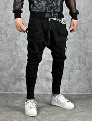 กางเกงผู้ชาย ผู้หญิง ราคาถูก กางเกงฮาเร็ม กางเกงลำลอง กางเกงแฟชั่น มี สีดำ มี ไซร์ M L XL 2XL 3XL