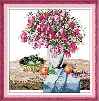 Vase & Fruits (ไม่พิมพ์/พิมพ์ลาย)