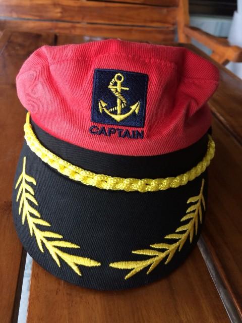 ++พร้อมส่ง++ตำหนิสีซีด หมวกแฟนซีตำรวจ/กะลาสี สีแดงเพิ่มลายปักตรงปีกหมวก ทรงสวย แบบดูดี ใส่กับชุดแฟนซีตำรวจ/ชุดกะลาสีเรือหรือใส่เที่ยวก็สวยเก๋เทห์ไม่ซ้ำใคร