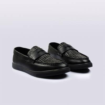 ขนาด:39 40 41 42 43 44 45 46 47 48 49 50 สี:ดำ รองเท้าผู้ชาย รองเท้าหนัง ขนาดใหญ่