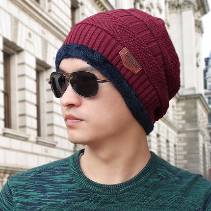(พร้อมส่งสีแดง หมวกอย่างเดียว) หมวกแฟชั่นกันหนาวผู้ชาย หมวกไหมพรมกันหนาว
