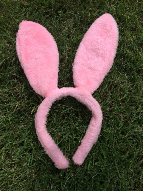 ++พร้อมส่ง++ที่คาดผมหูกระต่ายสีชมพู