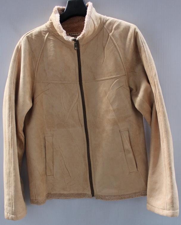 รอบอก 40/42  /เสื้อผ้าผู้ชาย/ BOYCOTT เสื้อกันหนาว เสื้อแจ๊คเก็ต หนังกลับ บุขน