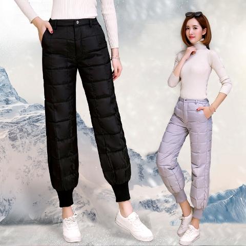 กางเกงขายาวขนเป็ด กางเกงกันหนาวขนเป็ด