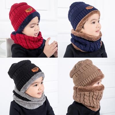 หมวกกันหนาวเด็ก+ผ้าพันคอ ปลอกคอ