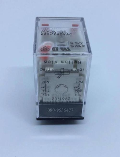 RELAY OMRON LED รีเลย์ MY2N-220VAC 2 CONTACT ราคา 120 บาท ไม่รวมค่าส่ง