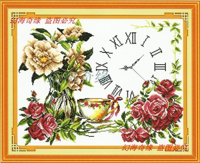 Flower vase (+นาฬิกา)(พิมพ์ลาย)