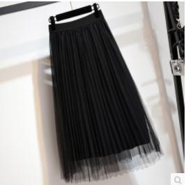 กระโปรงสั้น ผ้ามุ้ง มี5สี เทา/ขาว/ดำ/เหลือง/ชมพู มีไซส์ XL/2XL/3XL