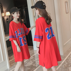 เสื้อผ้าผู้หญิง ราคาถูก เสื้อยืดแขนสั้น เสื้อยืดกระโปรงคอผู้หญิงคอปกฤดูร้อนเซ็กซี่เกาหลีผ้าฝ้าย มี สีแดง สีดำ มี ไซร์ M L