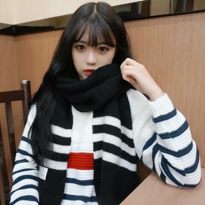 (พร้อมส่งสีดำ) ผ้าคลุมกันหนาว ผ้าพันคอแฟชั่น ผ้าพันคอกันหนาว อุปกรณ์กันหนาว
