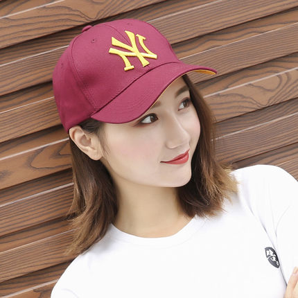 หมวกผู้ชาย ผู้หญิง ราคาถูก หมวกเบสบอลเกาหลี NY (ปรับได้) มี สีตามรูป