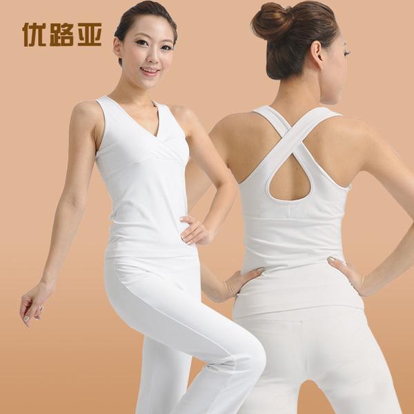**พร้อมส่ง สีขาวsize S เสื้อขาว-กางเกงขาม้ายาวสีขาว