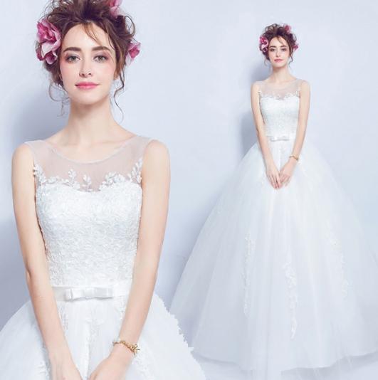 เสื้อผ้าผู้หญิง ชุดออกงาน ชุดแต่งงานสีขาวตามรูป