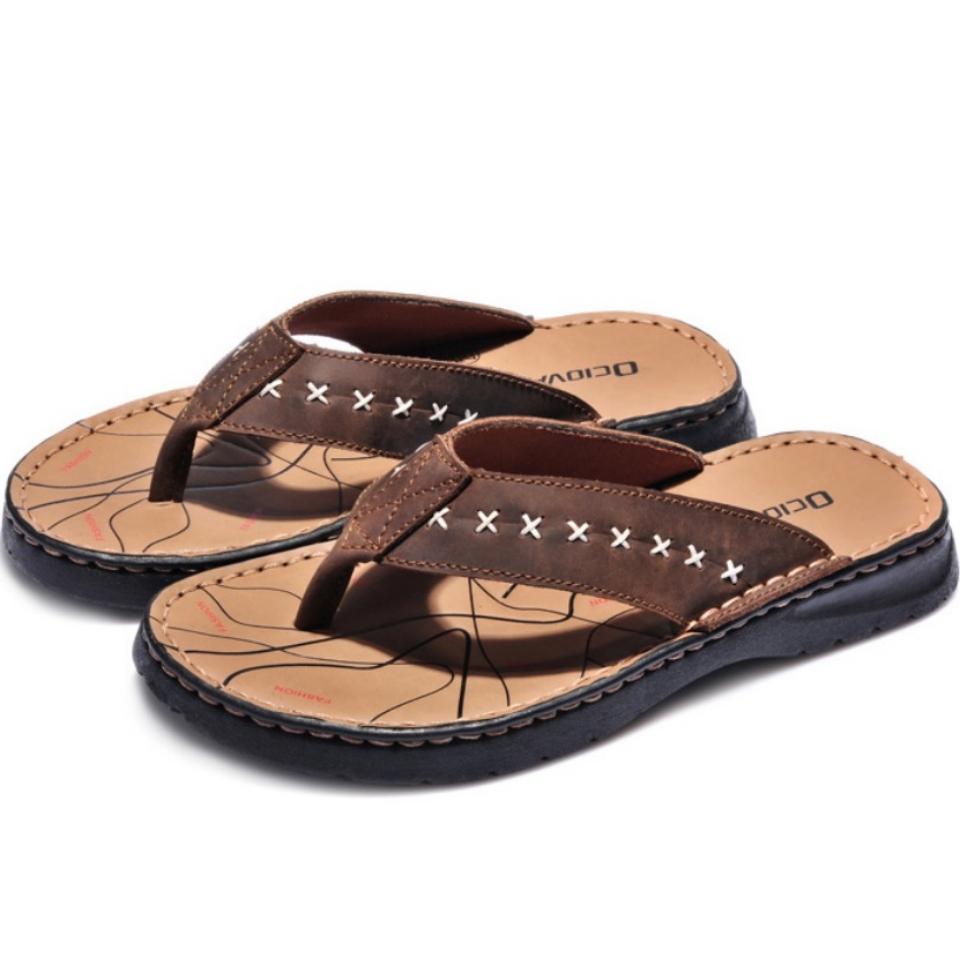 ขนาด: 45 46 47 48 49  สี:น้ำตาล  รองเท้าคนอ้วน รองเท้าผู้ชาย รองเท้าแตะ ขนาดใหญ่