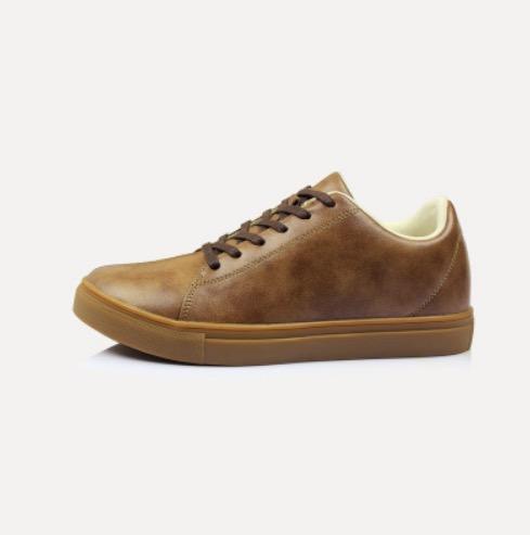 ขนาด: 44 45 46 47 48  สี:น้ำตาลอ่อน รองเท้าผู้ชาย รองเท้าหนัง ขนาดใหญ่