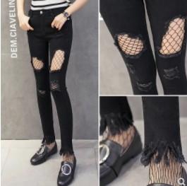 กางเกงขายาว ผ้ายีนส์ มีสี ดำ มีไซส์ XL/2XL/3XL/4XL