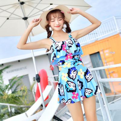 (พร้อมส่งสีฟ้า) ชุดว่ายน้ำทูพีท 2 ชิ้น ชุดว่ายน้ำแฟชั่น ชุดเล่นน้ำ