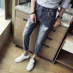 กางเกงผู้ชาย ราคาถูก กางเกงยีนส์ กางเกงยีนส์ผู้ชายแบบสบาย มี สีตามรูป มี ไซร์ 28-36