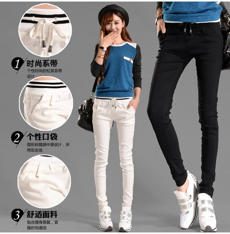 กางเกงผู้หญิง ราคาถูก กางเกงฝ้าย กางเกงลำลอง กางเกงแฟชั่น กางเกงลำลอง เท่ๆ มี สีขาว สีดำ มี ไซร์ S M L XL 2XL