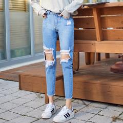 กางเกงผู้หญิง ผู้ชาย ราคาถูก กางเกงยีนส์  มี สีฟ้า มี ไซร์ 25-32