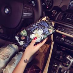 กระเป๋าผู้ชาย ราคาถูก กระเป๋าโทรศัพท์มือถือ กระเป๋าสตางค์ยาว มี สีดอกแดฟโฟดิ สีดอกกุหลาบ