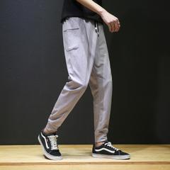 กางเกงผู้ชาย ราคาถูก กางเกงแฟชั่น กางเกงลำลอง มี สีเทา สีดำ มี ไซร์ M L XL 2XL